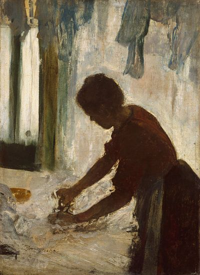 Een Strijken van de vrouw, Edgar Degas van Meesterlijcke Meesters