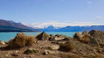Aoraki / Mount Cook van Lake Pukaki - Nieuw Zeeland van Maurits Simons