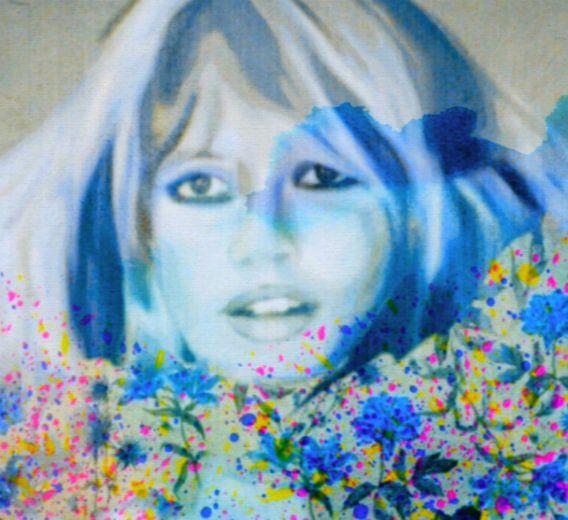 Brigitte Bardot Flower Pop Art