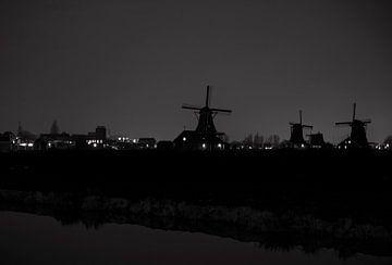 Zaanse Schans in zwart/wit von Brian Morgan
