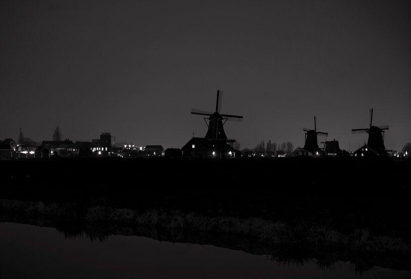 Zaanse Schans in zwart/wit van Brian Morgan