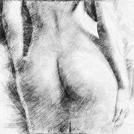 Mooie billen (schets, tekening) van Art by Jeronimo