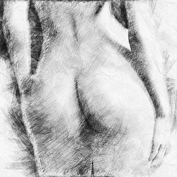 Schöne Pobacken (Skizze, Zeichnung) von Art by Jeronimo