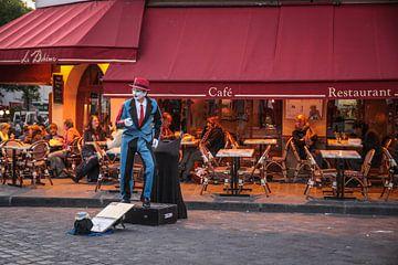 Schausteller am Montmatre in Paris von Christian Müringer