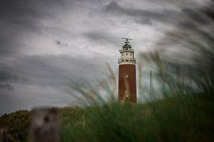 Vuurtoren Texel met dreigende luchten van
