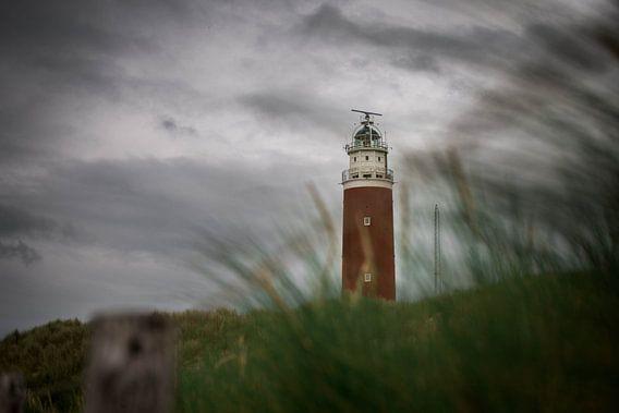 Vuurtoren Texel met dreigende luchten