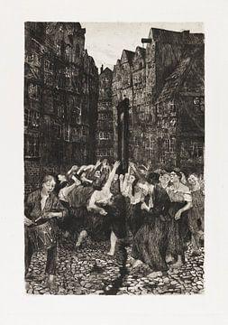 De Carmagnole, KÄTHE KOLLWITZ, 1901 van Atelier Liesjes