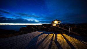 zonsondergang Noord Noorwegen van
