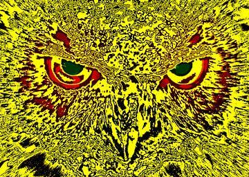 Owl's face van Leopold Brix