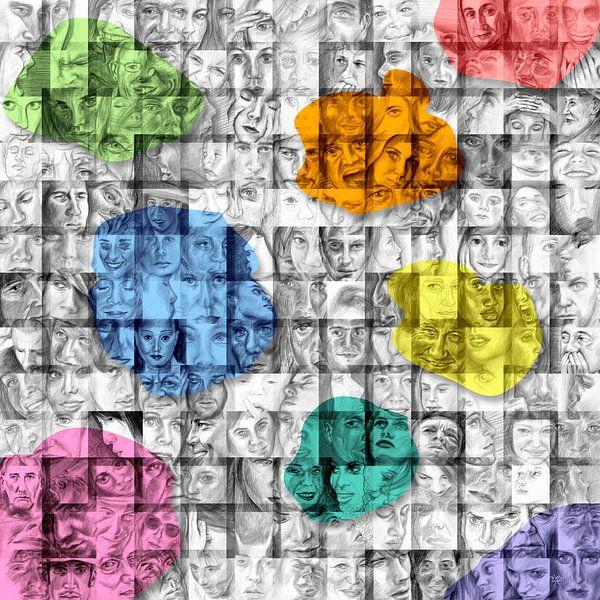 Palet van gezichten van ART Eva Maria