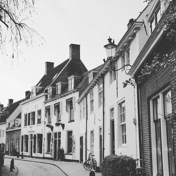 View of historical old town of Amersfoort in black/white, Netherlands van Daniel Chambers