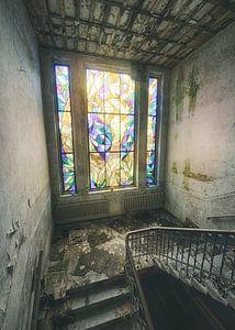 Cum Laude - glas in lood raam van