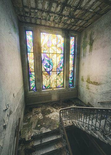 Cum Laude - glas in lood raam