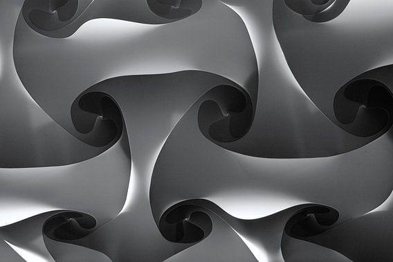 Maze in Grey van Brian Morgan