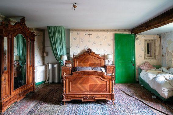 Verlaten Antieke Slaapkamer.