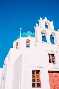 Kerk in Santorini van Patrycja Polechonska