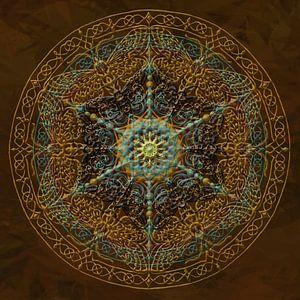 Mandala, goud tinten