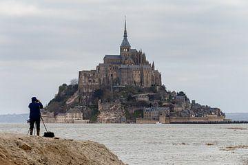 Vloed bij Mont Saint Michel