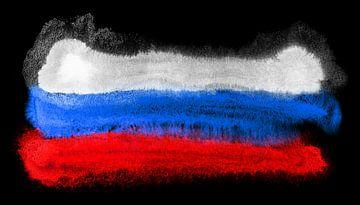 Symbolische nationale vlag van Rusland van Achim Prill