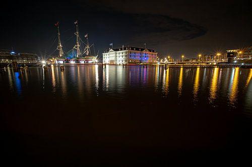 Schip VOC Amsterdam en  Scheepvaartmuseum