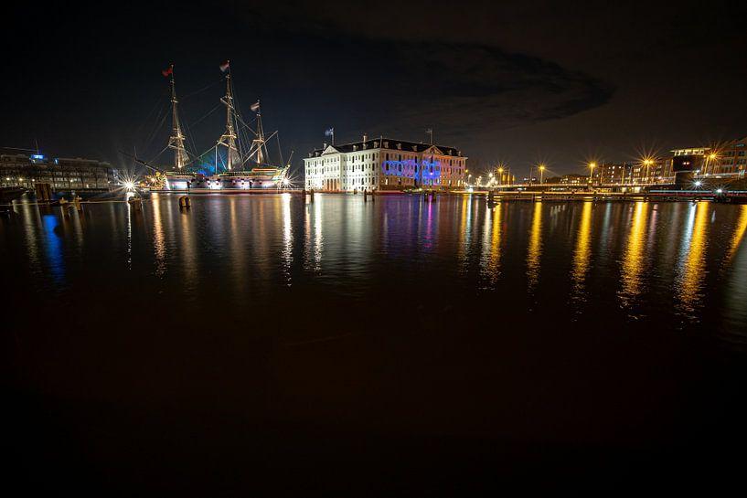 Schip VOC Amsterdam en  Scheepvaartmuseum van Fotografiecor .nl