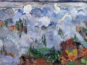 Wolken im Gebirge, Oskar Moll, Um 1920-1923 von Atelier Liesjes