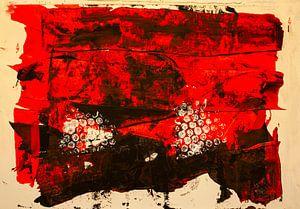 Rot-schwarze dekorative Farbfäche