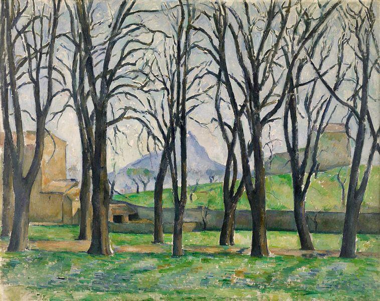 Paul Cézanne. Kastanjebomen bij Jas de Bouffan van 1000 Schilderijen