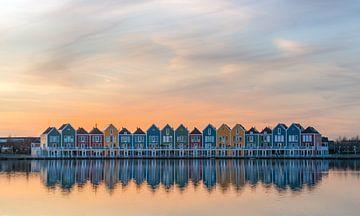 Les maisons arc-en-ciel à Houten sur Toon van den Einde