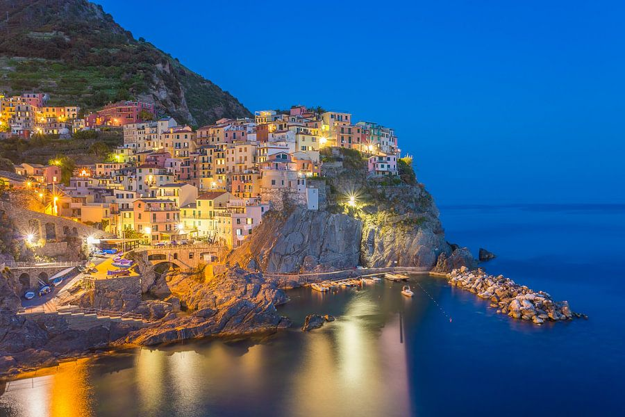 Manarola by Night - Cinque Terre, Italië - 2 van Tux Photography
