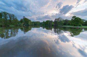 Sonnenuntergang Stadtpark Groningen (Die Niederlande) von Marcel Kerdijk