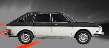 VW 411 black & white