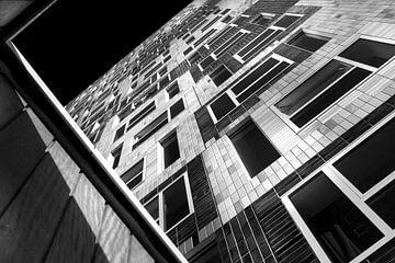 Utrecht Universität Studentenhaus Johanna in Schwarz-Weiß -Onix architektur von Marianne van der Zee