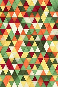 Kleurrijke 3D driehoeken van Jörg Hausmann