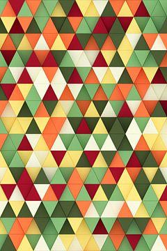 Bunte 3D-Dreiecke