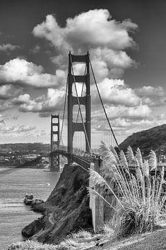 SAN FRANCISCO Golden Gate Bridge | monochrom von Melanie Viola
