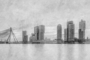 Wilhelminapier in Rotterdam von eric van der eijk
