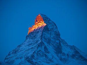 De Matterhorn bij zonsopgang van