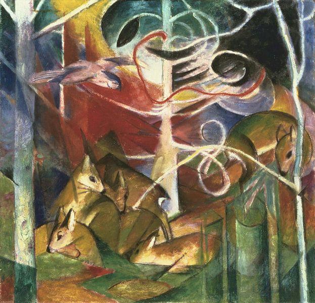 Hirsch im Wald I, Franz Marc von Meesterlijcke Meesters
