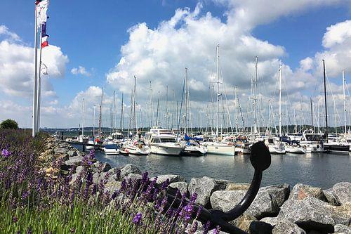 Mediterrane haven op het Kiel Fjord