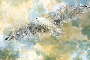 Digital-Art Vanishing Seagull