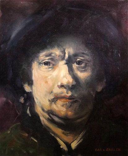 Rembrandt - Studie portret