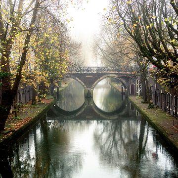 De Hamburgerbrug in Utrecht over de Oudegracht (vierkant) van De Utrechtse Grachten