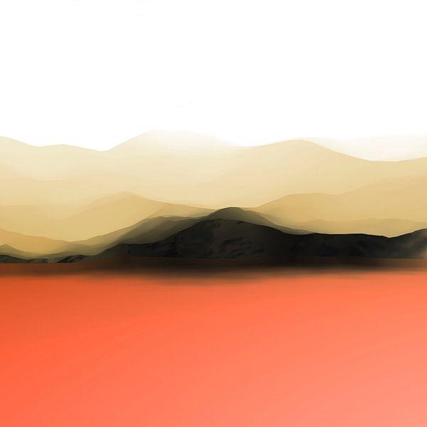 Paysage de montagne 2 van Angel Estevez