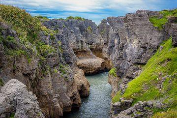 Pancake rocks, Nieuw Zeeland van Rietje Bulthuis