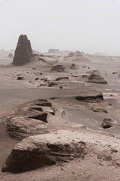 Châteaux de sable dans le désert d'Iran
