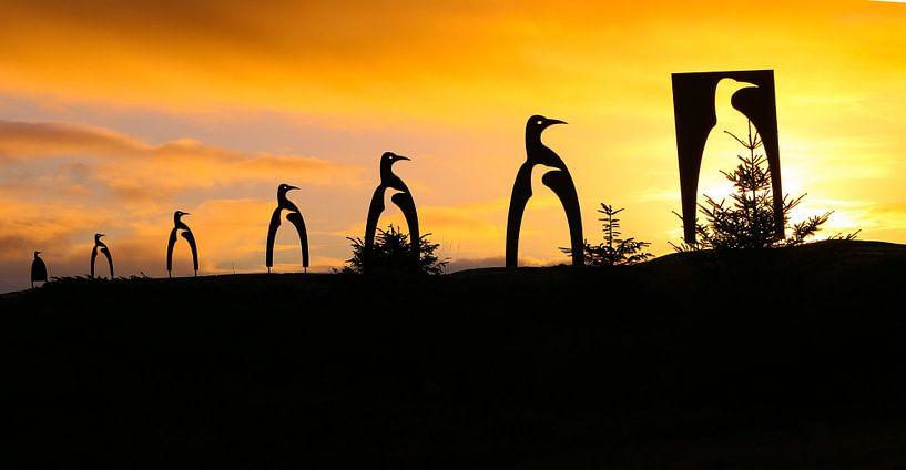Pinguïns kerstboom van Ronald Molegraaf