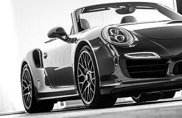 Porsche 911 Cabrio schwarz-weiß von Martijn van Dellen