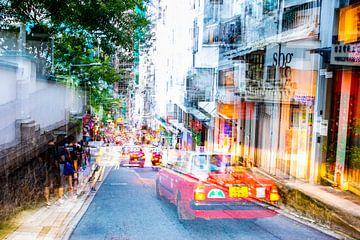 Taxi in Hongkong von Guido Pijper