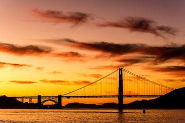 Golden Gate Bridge in San Francisco bei Sonnenuntergang von Dieter Walther